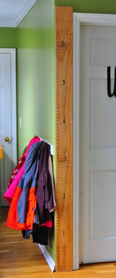 for measuring growth- instead of marking up my laundry room doorway and dragging the measuring tape in from the garage.