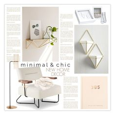 """""""Minimal: New Home for Two Inspired"""" by nonniekiss ❤ liked on Polyvore featuring interior, interiors, interior design, home, home decor, interior decorating, Magical Thinking, Cathy's Concepts, kikki.K and AERIN"""