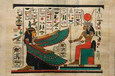 Photo about Egyptian papyrus with figures and signs. Image of papyrus, goddess, egypt - 13080922 Cartoon Kids, Deco, Egyptian, Maya, Pop Culture, Photo Editing, Royalty Free Stock Photos, History, Illustration