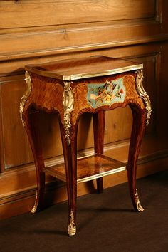 Louis XV marquetry with painted design Diy Farmhouse Table, Modern Dining Table, Modern Coffee Tables, Rustic Table, Diy Table, Dining Tables, Live Edge Table, Live Edge Wood, Royal Furniture
