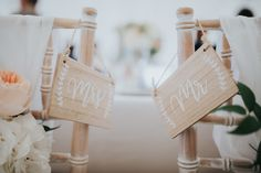 Limewash chiavari chairs decorated with sashes flowers and Mr & Mrs signs Marquee Hire, Marquee Wedding, Wedding Table, Mr Mrs Sign, Devon And Cornwall, Chiavari Chairs, Exeter, Somerset, Plymouth