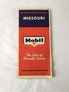 Vintage-Mobil-Gas-Miracle-Fold-Road-Map-of-Missouri-Sign-of-Friendly-Service