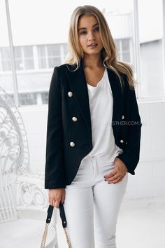 fit: standard sizing, structured style, medium weight fabric, shoulder pads, lined, stitched pockets, gold embroidered buttonscolour: taupefabric: polyesterour model is 163cm tall and is pictured in a size S/8