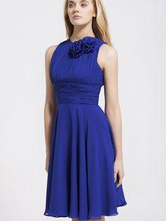 Royal Blue Chiffon Dress. Without The Flowers