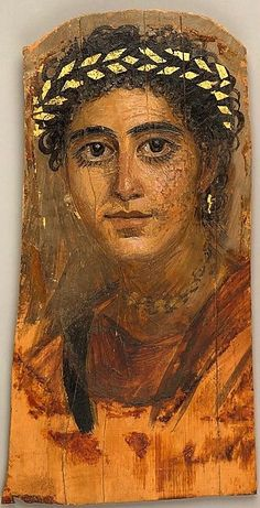 Portrait of a young woman in red, Roman Period, A.D. 90–120, Akhmin, Egypt