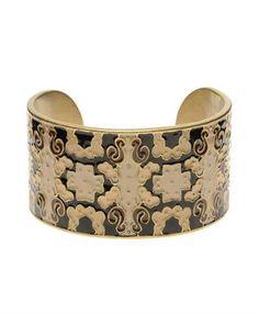 Club Monaco Bijoux Enameled Brass Cuff.
