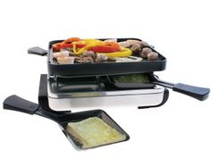 Severin Raclette Indoor Tabletop Barbecue Grill avec 4 Non-Stick Coated mini casseroles