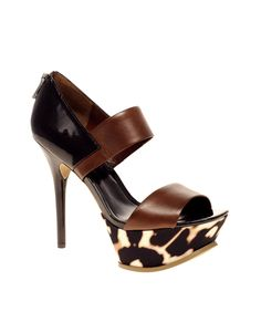 ASOS HANDFULL Platform Zip Back High Sandal