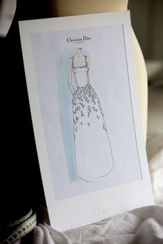 """The sketch of the gown worn by Kirsten Dunst at the Festival De Cannes for the Première of """"Loving"""" from Christian Dior Haute Couture inspired by the Muguet Dress by Christian Dior for his Spring Summer Haute Couture collection. Dior Fashion, Fashion Art, Editorial Fashion, Fashion Design Drawings, Fashion Sketches, Princess Dress Patterns, Dior Haute Couture, Kirsten Dunst, Pin Art"""