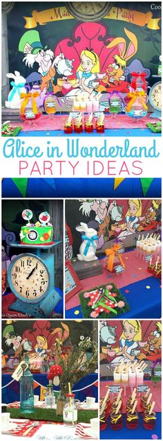 You have to see this incredible Alice in Wonderland party! See more party ideas at CatchMyParty.com!