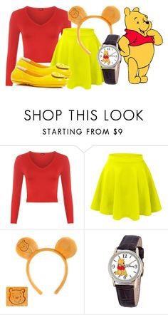 """""""Winnie the Pooh"""" by princessmikyrah ❤ liked on Polyvore featuring WearAll, LE3NO, Disney and Tory Burch"""