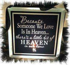 Because Someone We Love is in Heaven Night Light Glass Block Memorial. $30.00, via Etsy.