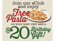 Get FREE Pasta from Buca di Beppo!