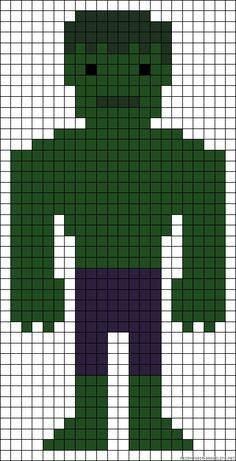 Incredible Hulk perler bead pattern