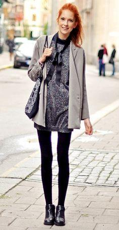 Swedish Blogger,  Ebba Zingmark  Wears  Mango dress and Monki jacket