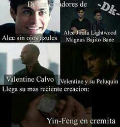 Madreeeee! Que mundano hizo esto! Shadowhunters Malec, Shadowhunters The Mortal Instruments, Alec Lightwood, Book Memes, Book Quotes, Hush Hush, Something Just Like This, Cassandra Clare Books, Forever Book
