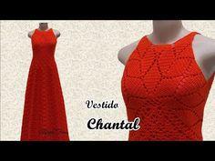 Crochet Long Dresses, Crochet Dress Girl, Crochet Skirts, Crochet Woman, Crochet Clothes, Knit Crochet, Knitting Videos, Crochet Videos, Crochet Carpet
