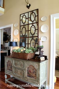 Savvy Southern Style: Fall Foyer Vignette