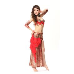Amazon.com: GUILTY BEAUTY Professional Belly Dance Costume Set Bra Skirt…