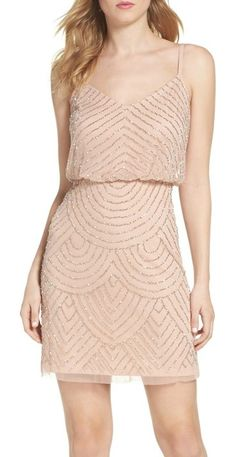 a907602f55 On SALE at 40% OFF! sequin mesh blouson dress by Adrianna Papell. Glimmering