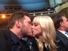"Pin for Later: Chris Pratt and Anna Faris's Son, Jack, Is Such a Gem  Chris: ""Having a blast at the @nflhonors So grateful to be here."""