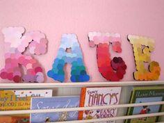 Paint sample letters