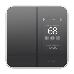 Add smart technology to all your electric heating devices with Stelpro MAESTRO Smart Wi-Fi Programmable Controller-Thermostat for Electric Baseboard in Black. Smart Home Technology, Technology Gadgets, Modern Light Switches, Smart Panel, Smart Home Design, App Home, Secret Storage, Smart Home Automation, Screen Design