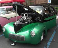 Cool green car.