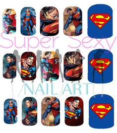 Superman Comic Nail Art Water Transfer Decal  by SuperSexyNailArt, $4.99