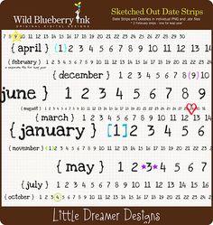 wild blueberry Ink date stamp freebie