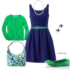 New Girl inspired>>>>teacher look Preppy Style, Style Me, Girl Style, Retro Style, Girl Fashion, Fashion Looks, Box Pleated Dress, Teacher Style, New Girl