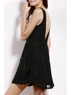 V Neck Sleeveless Backless Solid Color Dress #womensfashion #pinterestfashion #buy #fun#fashion