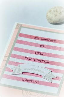 by Keksie:Bannerweise Grüße, Geburtstag, Stampin up, Karte