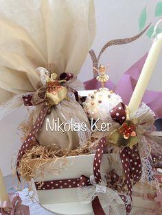 Πασχαλινό κουτί με μπαλαρίνες! Περιέχει σοκολατένιο αυγό & λαμπάδα. www.nikolas-ker.gr Easter Ideas, Diy, Baptisms, Bricolage, Handyman Projects, Do It Yourself, Diys, Diy Hacks, Crafting