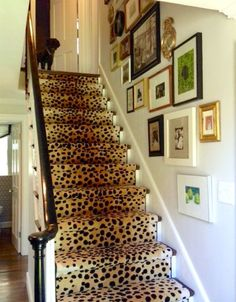 Via Elements Of Style Blog - leopard staircase runner cheetah carpet glen-eden.com with lovely art wall