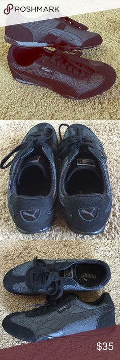 Brand new Puma Athletic Shoes size 7.5 Womens Puma Shoes size 7.5. Brand new - they have just been in my closet for the past few months and I haven't reached for them. No box or tags but they are unworn. Black and gray. Puma Shoes Athletic Shoes