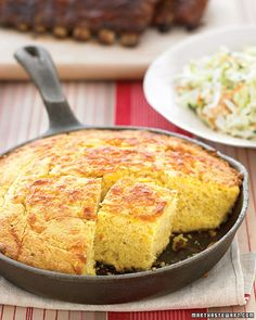 The perfect companion to a big pot of chili: Cheddar Cornbread