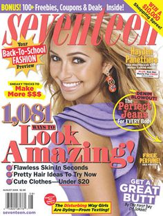 Hayden Panettiere on the August 2009 cover!