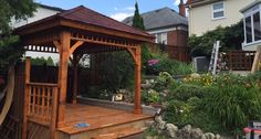 Montpellier gazebo will give you shade for your backyard patio and compliment the surrounding area.
