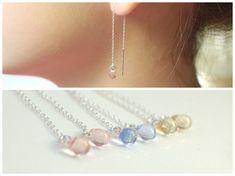 Teardrop Czech bead earrings