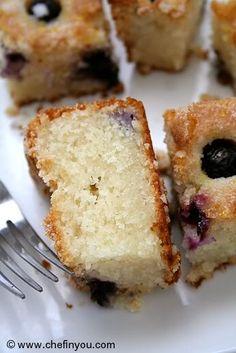 "Eggless ""melt-in-mouth"" Blueberry Boy Bait Cake recipe-->http://chefinyou.com/2011/10/eggless-blueberry-cake/"