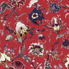 Part of the HOUSE OF HACKNEY x WILLIAM MORRIS AW15 collection: Artemis Scarlet Red http://www.houseofhackney.com/collections/artemis.html