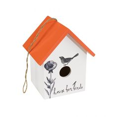 Hang against a wall or in a tree this Wooden Bird House from Wild & Wolf. A picturesque, miniature house for all your bird friends. Bird Houses For Sale, Bird Feeders For Sale, Cages For Sale, Wooden Bird Houses, Bird Feeder Plans, Homemade Bird Feeders, Bird Cages, Small Birds, Dot And Bo