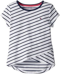677a8b07 Tommy Hilfiger Stripe Crossover Tee Girl's T Shirt Tommy Hilfiger Kids,  Billabong Girls, Pullover