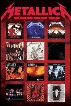 Metallica Albums Poster - NEW & OFFICIAL
