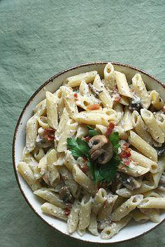 Finding Inspiration - Mushroom Carbonara Pasta - Crumb: A Food Blog