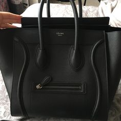 100% Authentic Celine Bag Mini Comes with dust bag and authenticity card. Great condition. Has a tad bit of glitter on the inside but can easily be cleaned. No rips or scratches or stains. Any questions please ask. Lowest offer I will take is $2000. Celine Bags Hobos