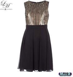 Dámske oblečenie | Dámske šaty | Little Mistress Gold and Black šaty zlaté | www.nells.sk - Parfumy, kozmetika a oblečenie svetových značiek.
