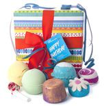Happy Bathday: Our extra special, birthday-extravaganza box combines classic Bath Bombs and new favorites.