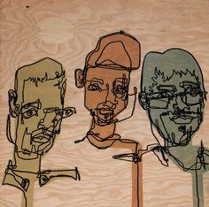 Blind Contour - Paint by Allison Kunath, via Behance